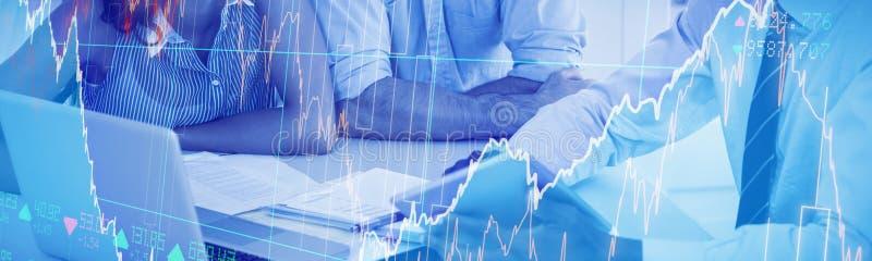 股份分配的综合图象 免版税库存图片