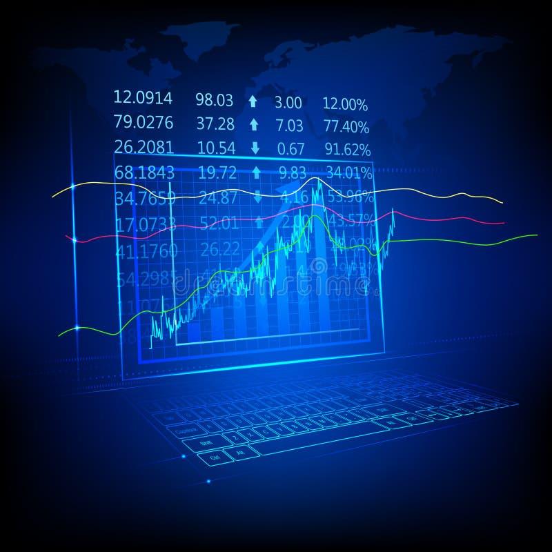 股市列表 向量例证