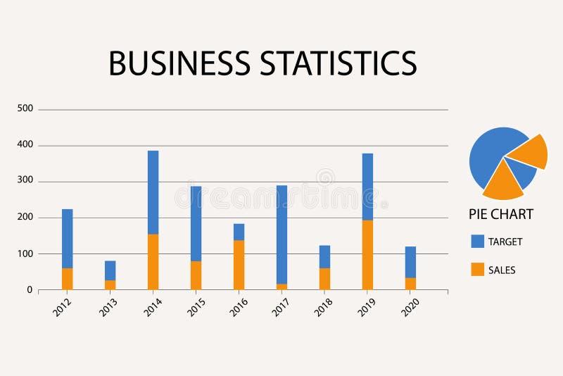 股市图 企业图表背景,财政背景,经济背景,传染媒介例证 向量例证