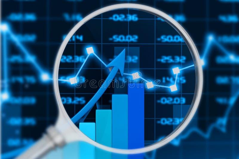 股市图 向量例证