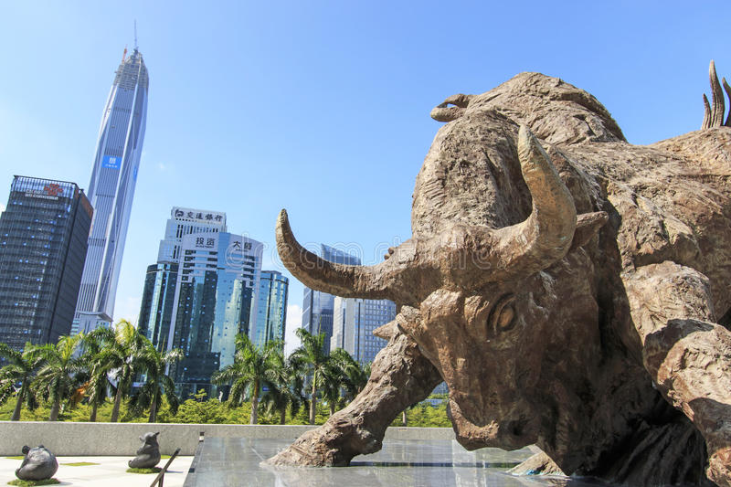 股市大厦在深圳 免版税库存图片