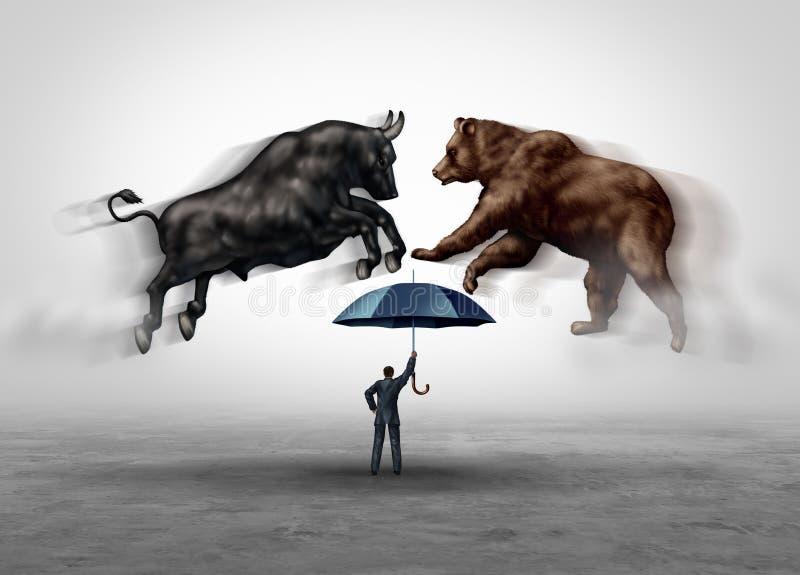 股市安全 库存例证