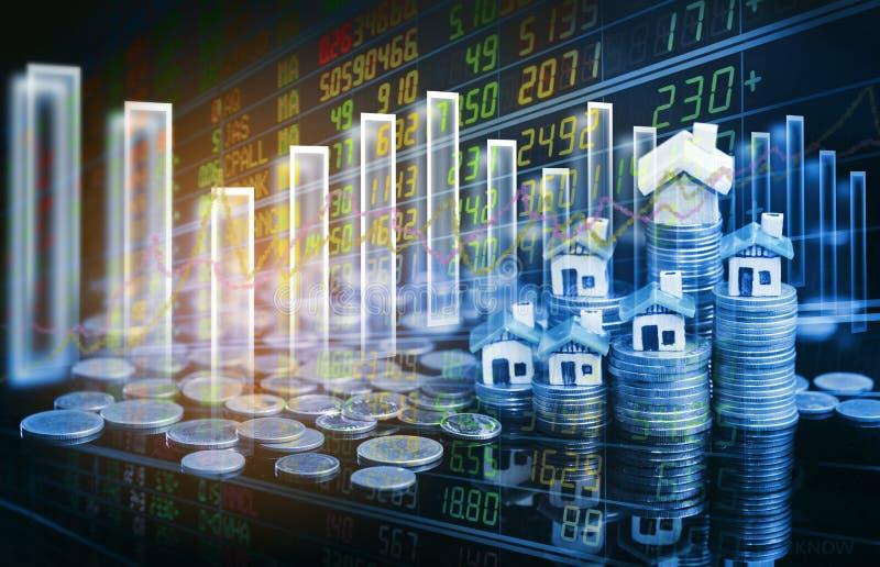 股市或外汇贸易的图表和烛台绘制适用于图表金融投资概念 库存图片