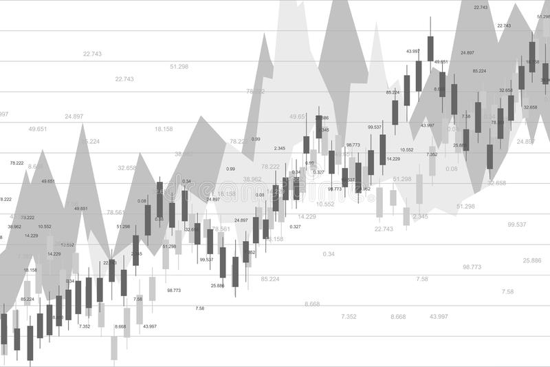 股市或外汇贸易的图表图适用于金融投资概念 经济趋向背景为 库存例证