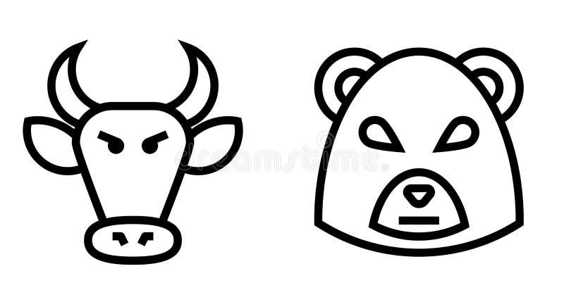股市牛市与熊市变薄线传染媒介象 皇族释放例证