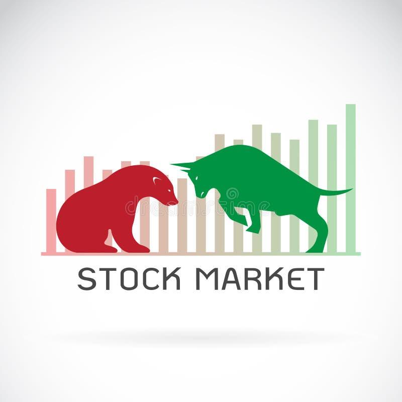 股市的牛市与熊市标志传染媒介趋向 库存例证