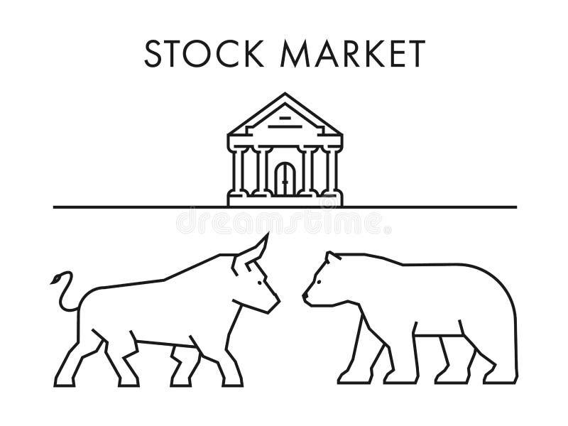 股市的线概念 传染媒介牛市与熊市 向量例证