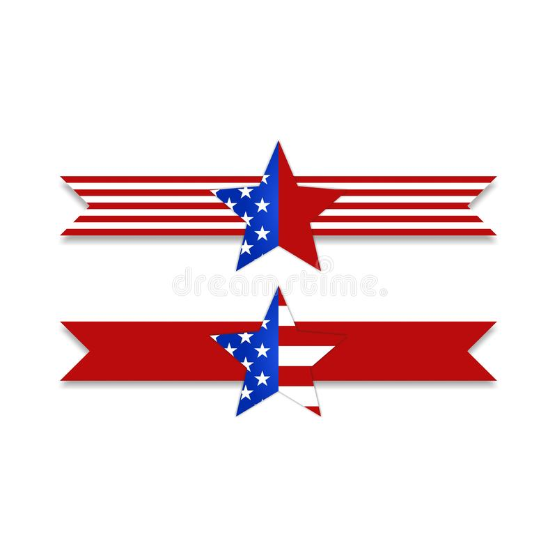 股票传染媒介美国国旗旗子构思设计传染媒介illustrat 向量例证
