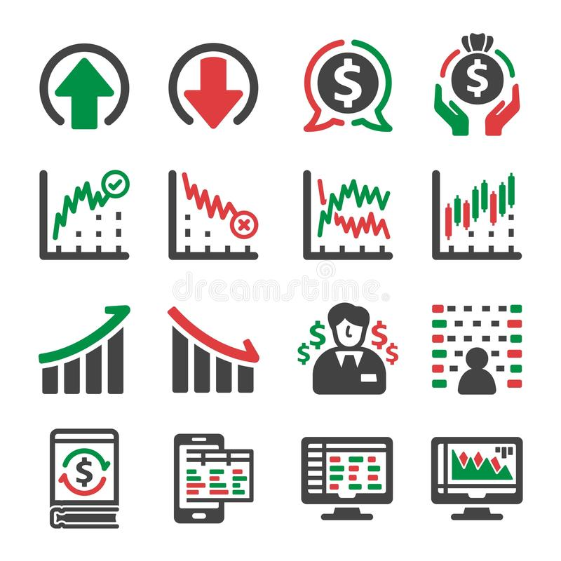 股票和投资象 库存例证