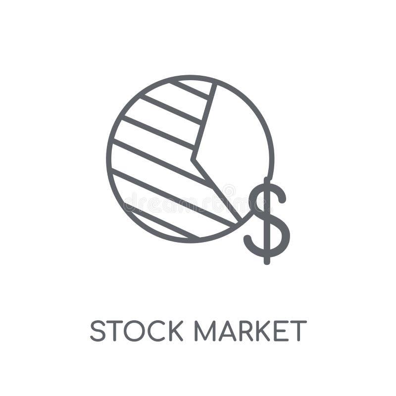 股票市场线性象 现代概述股票市场商标conce 皇族释放例证