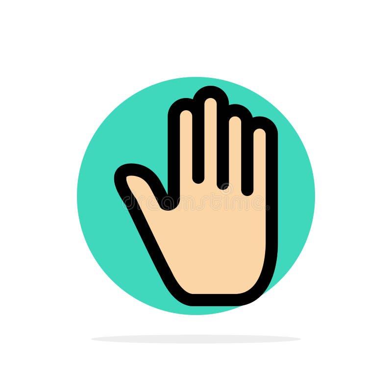 肢体语言,姿态,手,接口,抽象圈子背景平的颜色象 皇族释放例证
