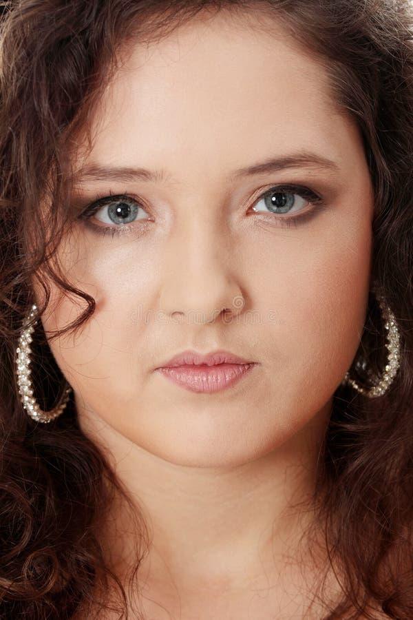 肥头大耳典雅组成妇女年轻人 图库摄影