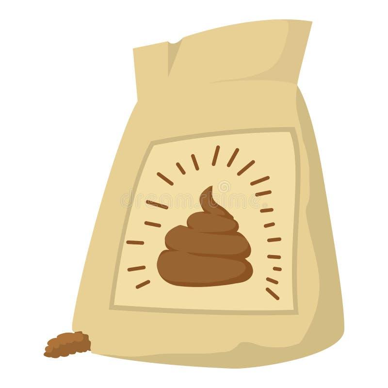 肥料袋子象,动画片样式 库存例证