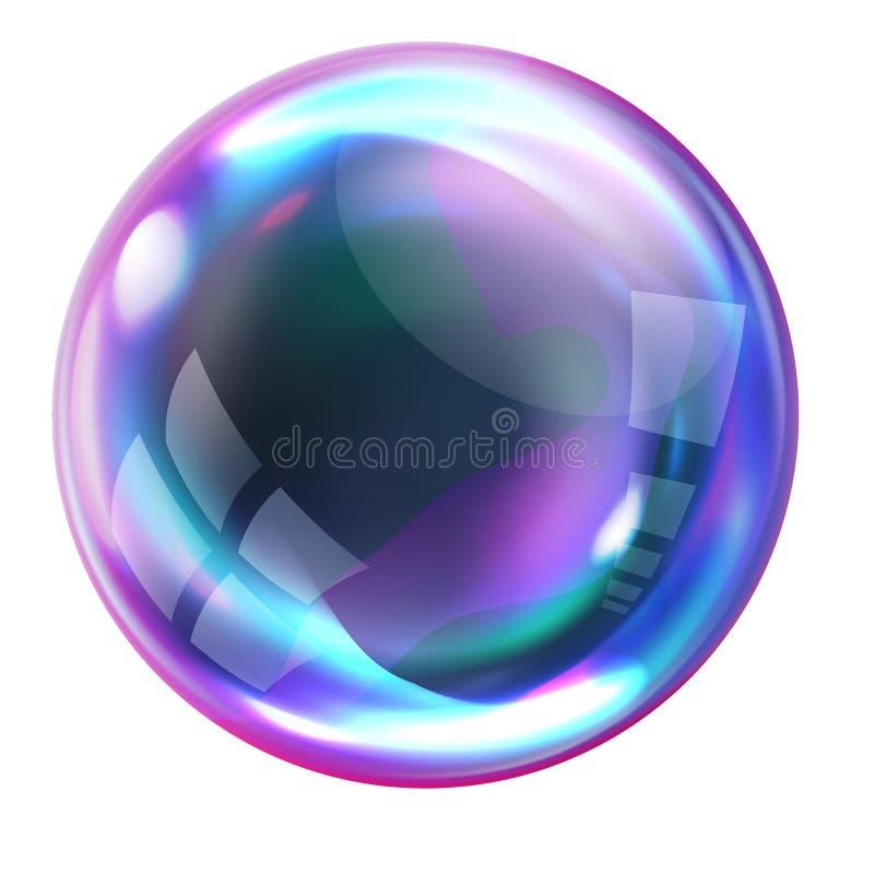 肥皂与反射的彩虹泡影 皇族释放例证