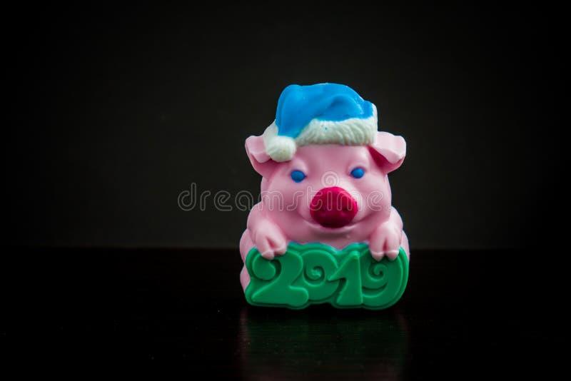 肥皂小的猪2019年 库存图片