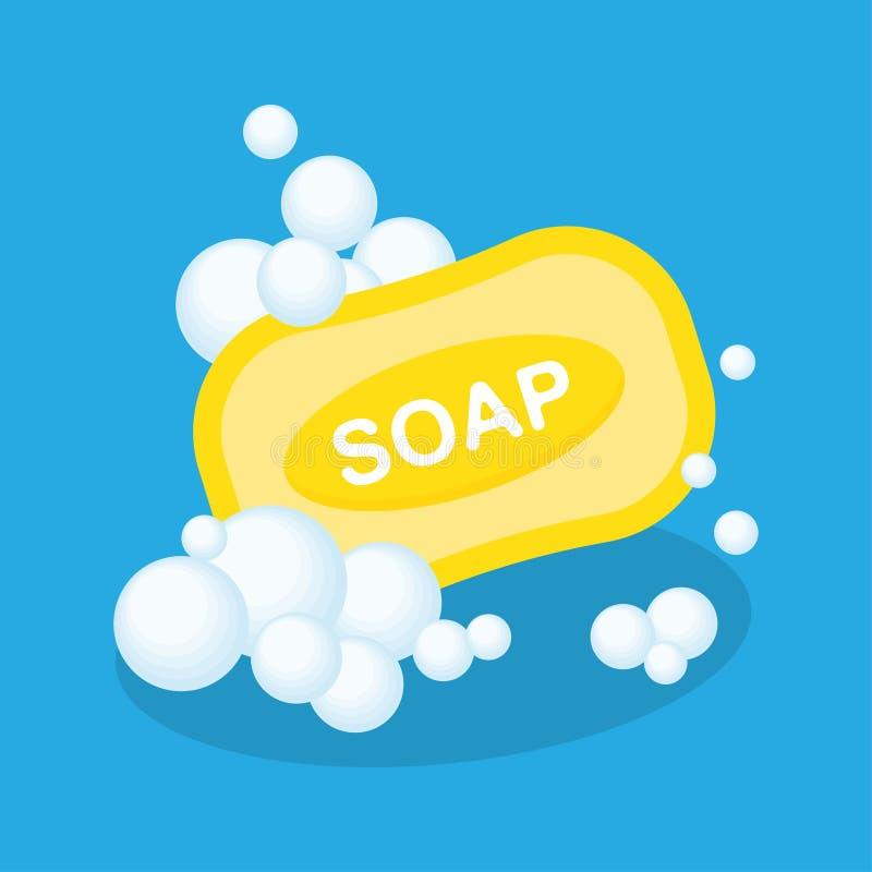 肥皂平的象 向量例证