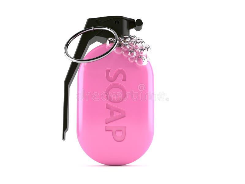 肥皂有手榴弹保险丝的 库存例证