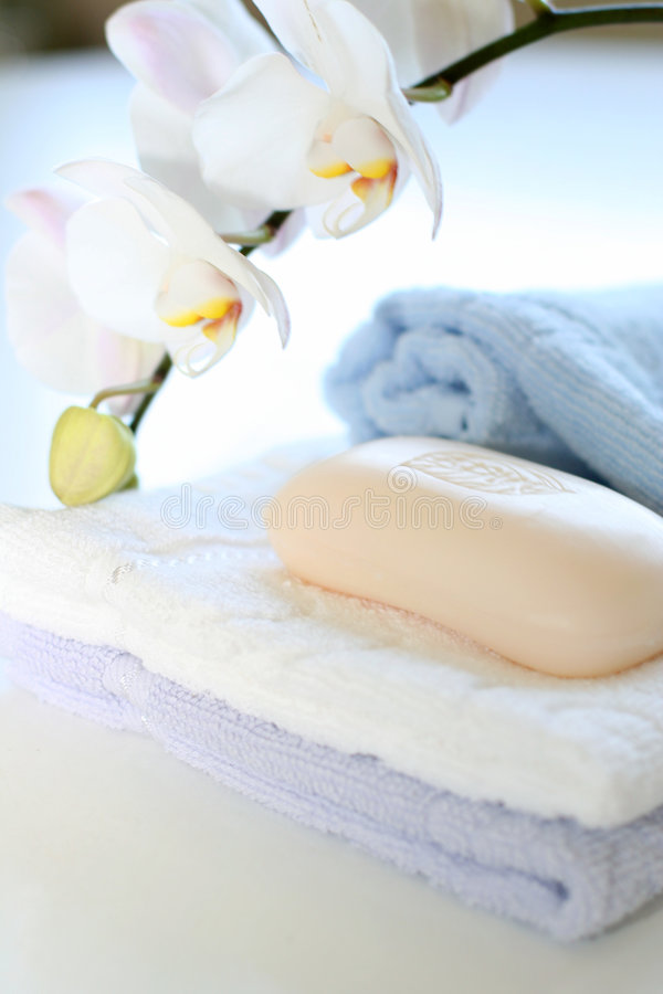 肥皂毛巾 免版税库存图片