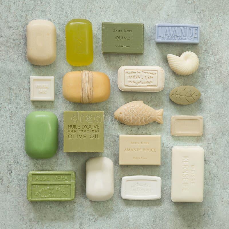 肥皂汇集温泉健康 库存照片