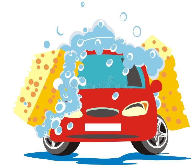 肥皂的汽车 库存例证