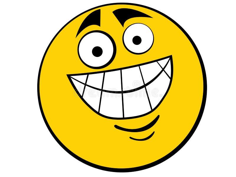 肥胖人图标面带笑容 向量例证