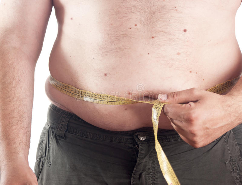 肥胖人 库存照片