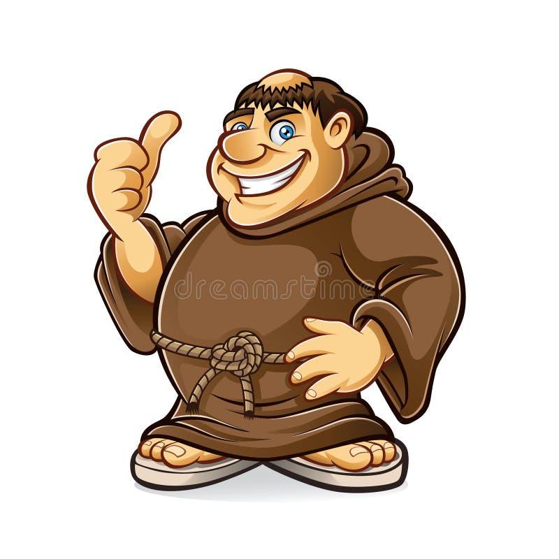 肥胖修士 向量例证