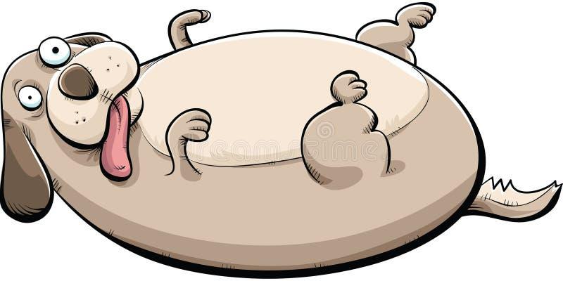 肥胖狗 库存例证