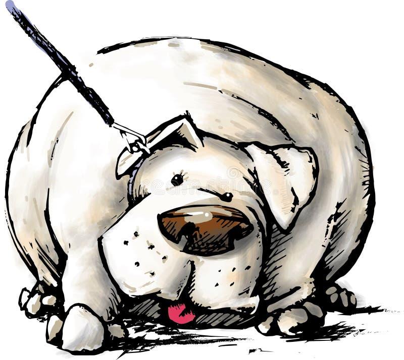肥胖狗 皇族释放例证