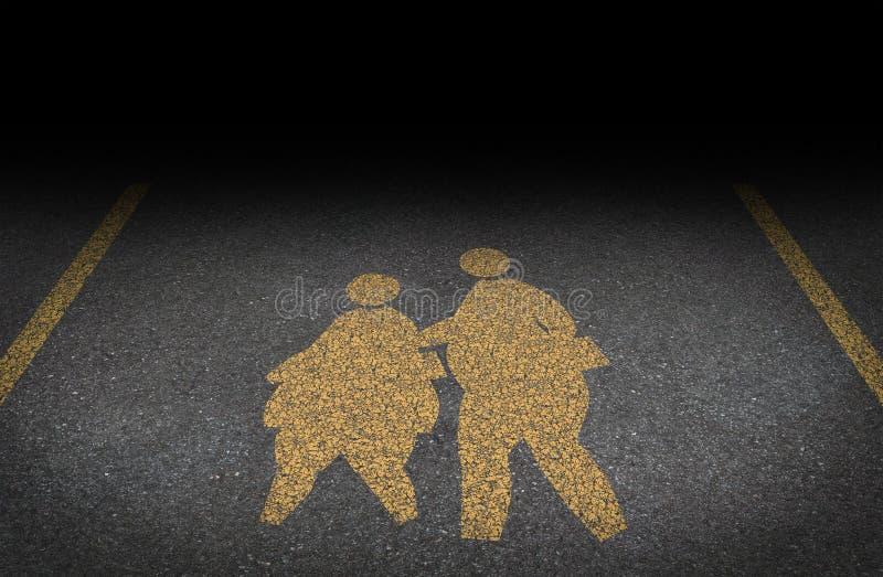 肥胖病对于儿童 向量例证