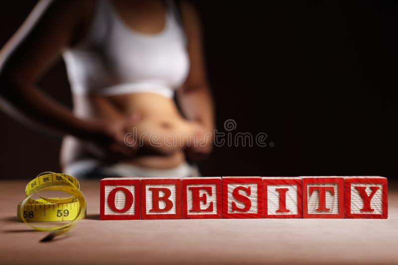 肥胖病 图库摄影