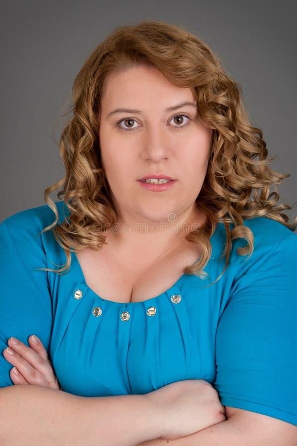 肥胖纵向妇女 库存照片