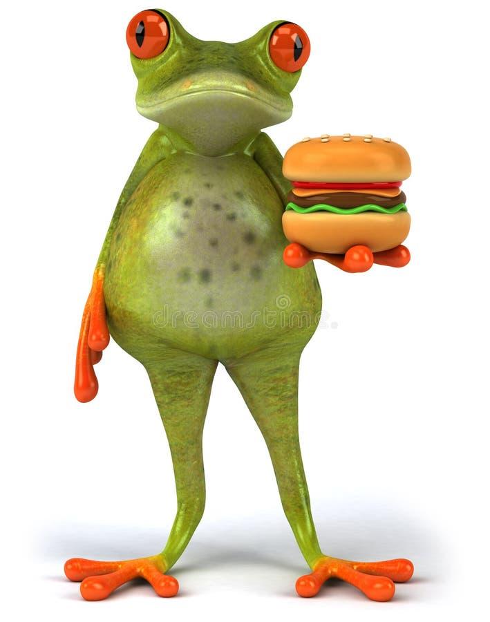 肥胖青蛙 向量例证
