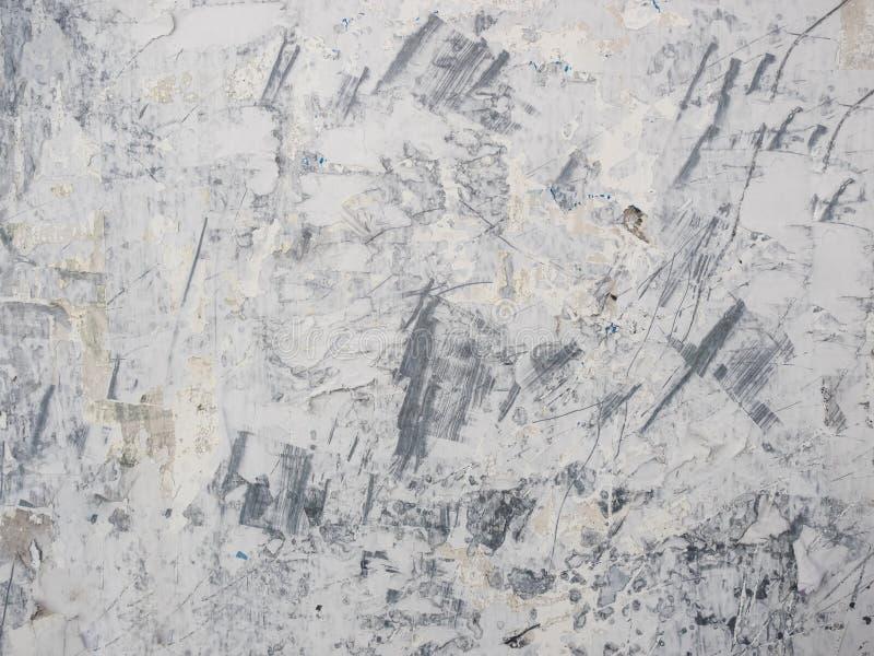 肮脏和难看的东西白色墙壁 图库摄影