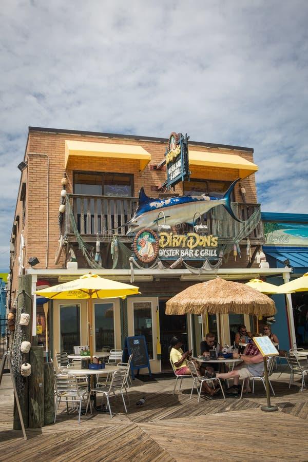 肮脏的唐` s牡蛎酒吧&格栅 库存图片