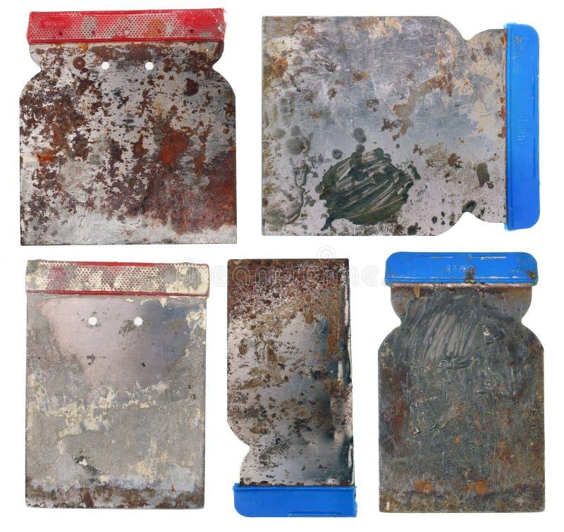 肮脏的生锈的建筑钢小铲 免版税库存图片