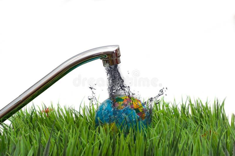 肮脏的被污染的地球地球 免版税库存照片
