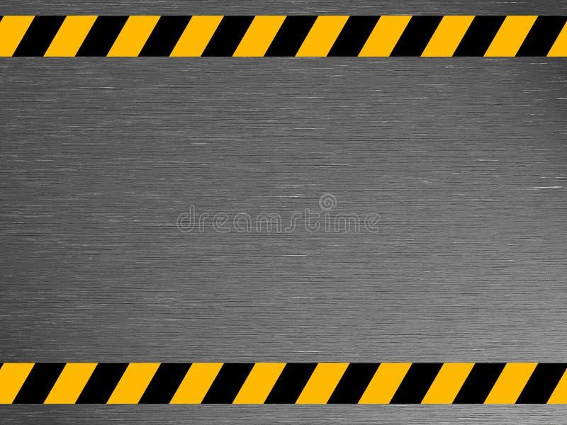 肮脏的金属纹理-工业-警告 免版税库存照片