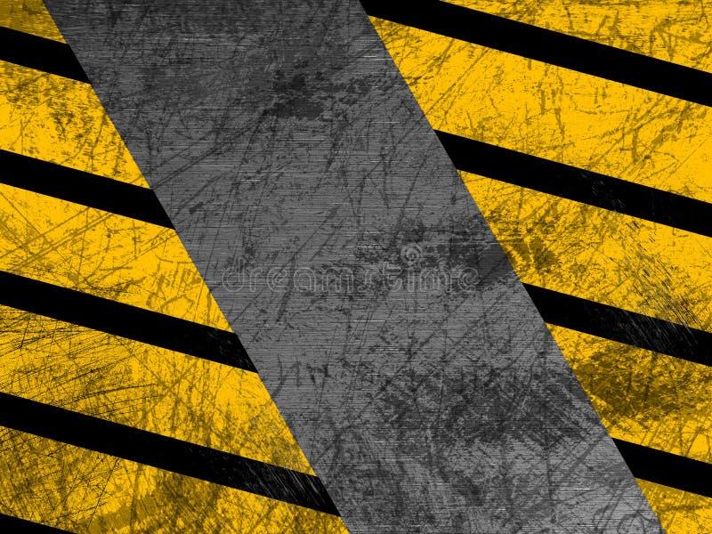 肮脏的金属纹理-工业-警告 免版税图库摄影