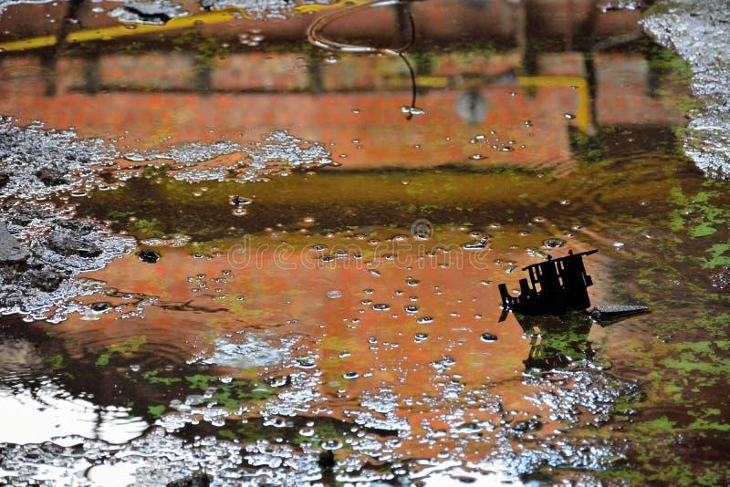 肮脏的水水池,特写镜头 免版税库存照片