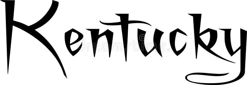 肯塔基文本标志例证 向量例证