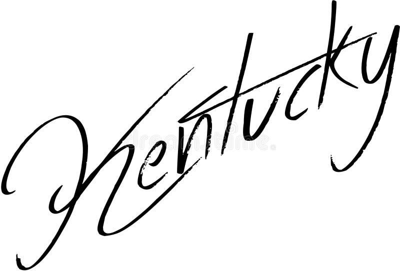 肯塔基文本标志例证 皇族释放例证