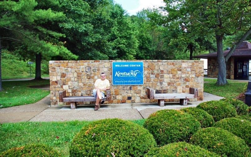 肯塔基状态美国访客中心休息区 免版税库存图片