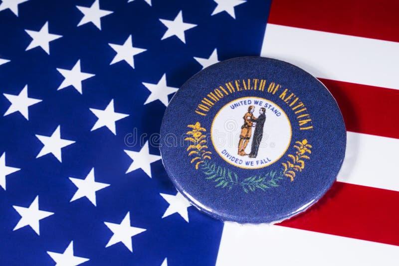 肯塔基的状态在美国 免版税库存图片