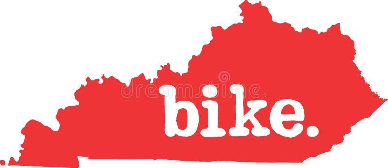 肯塔基自行车状态向量标志 皇族释放例证