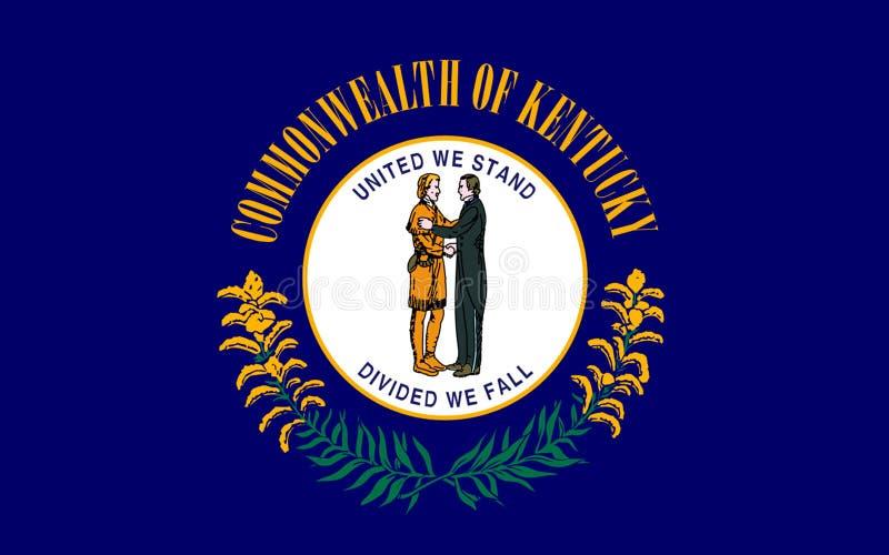 肯塔基,美国的旗子 库存照片
