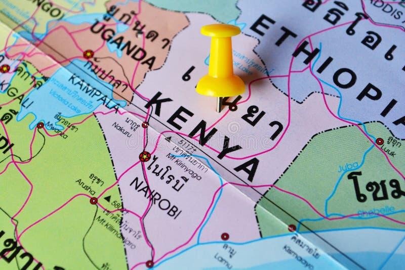 肯尼亚地图 库存图片