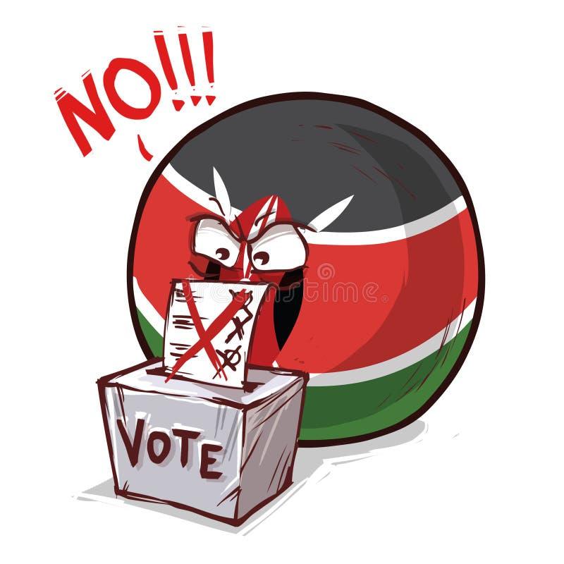 肯尼亚投反对票国家的球 库存例证