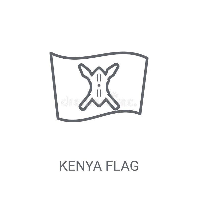 肯尼亚旗子象 在白色backgro的时髦肯尼亚旗子商标概念 向量例证