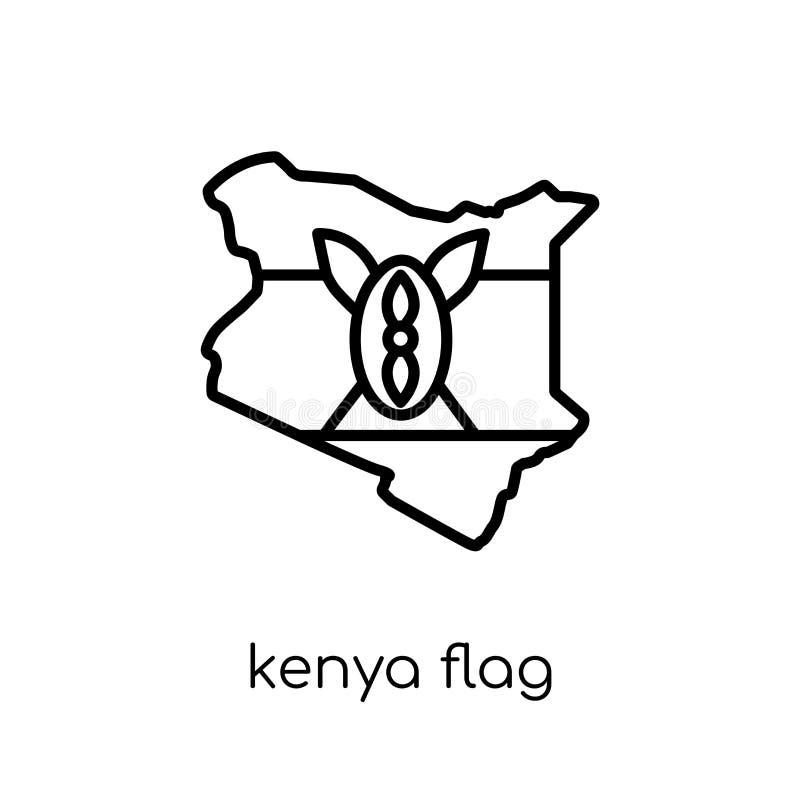 肯尼亚旗子象  皇族释放例证